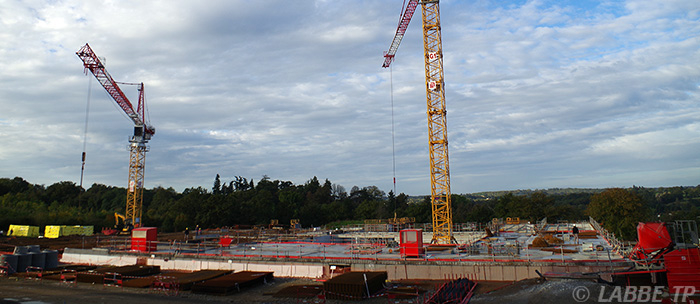 Construction du nouvel hopital de Confolens